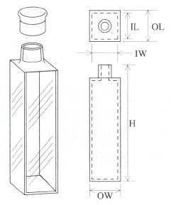 キャップ付蛍光セル(全面透明)