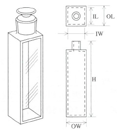 栓付蛍光セル(全面透明)