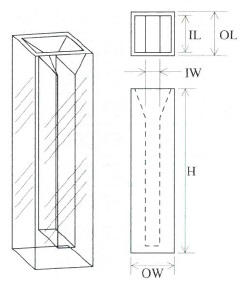 セミマイクロ蛍光セル(全面透明)
