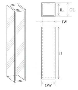 小型蛍光セル(全面透明)