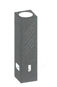 サブマイクロブラックセル(3面透明)