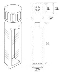 スクリューキャップ付蛍光セル(全面透明)