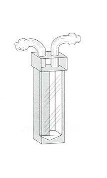 枝付フローセル(3面透明)