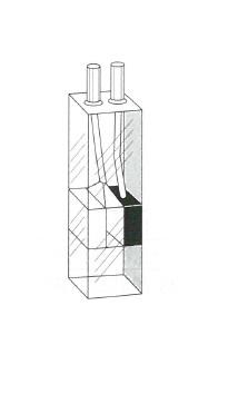 ブラックマイクロフローセル(3面透明)