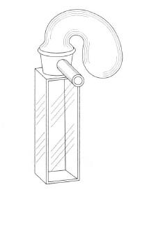 小型ツンベル管付セル(全面透明)
