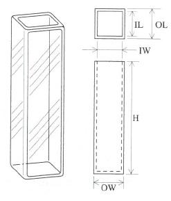超高低温用蛍光セル(全面透明)